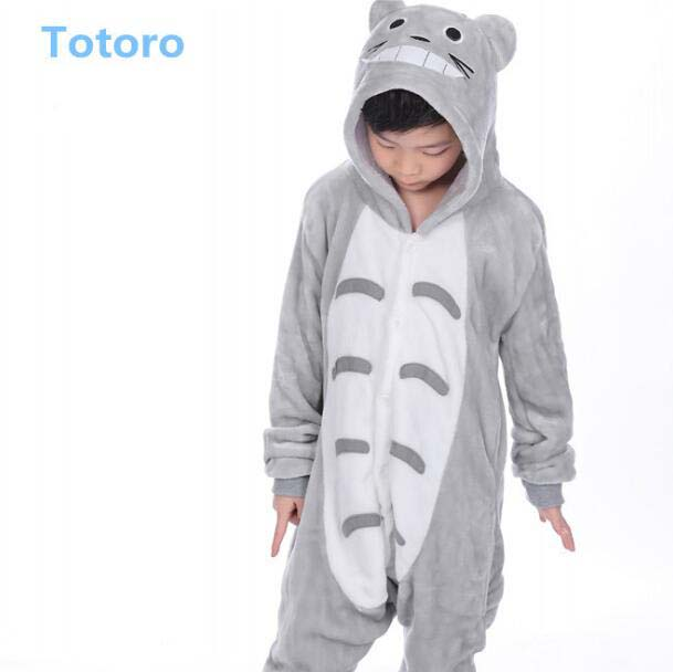 Wholesale Flannel Full Body Thick Totoro Boys Pajamas And Night Dress