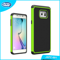 Fancy design mobile back cover 2 in 1 pc tpu case cover for Samsung s6 edge plus