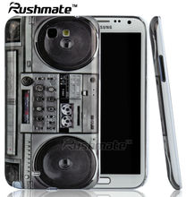 Crystal IMD Radio Cell Cases Accessories For Samsung Galaxy Note2 N7100 Mobile Phone Covers