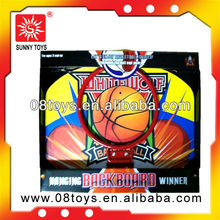 Assemblable basketball board set wood children toy shelf