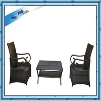 Classical Styles Wicker Or Rattan Furniture Outdoor Chairs and Small Table