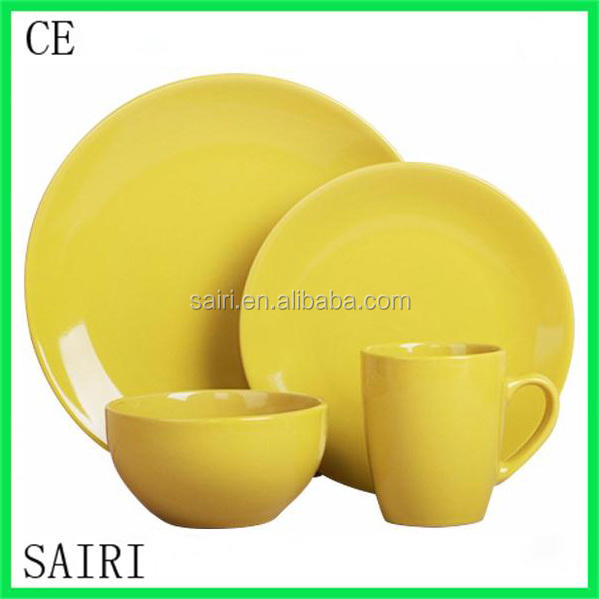 16pcs stoneware solid colour handpainting new design embossment dinnerware set 2015 top selling  sc 1 th 225 & 16pcs solid colour dinnerware_Yuanwenjun.com
