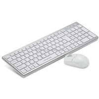 1000 DPI water-proof chocolate keys silent 2.4G wireless keyboard and mouse combo