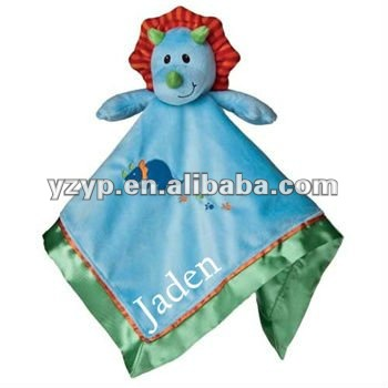 Best Lovely and cute Personalized Okey Dokey Dinosaur plush Baby Security Blanket