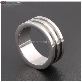 two groove titanium blank rings for inlay