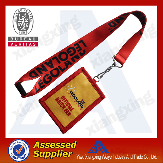 Popular ID card holder bag lanyards with free sample