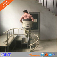 Holift brand new model accessibility indoor small home curve stair lift