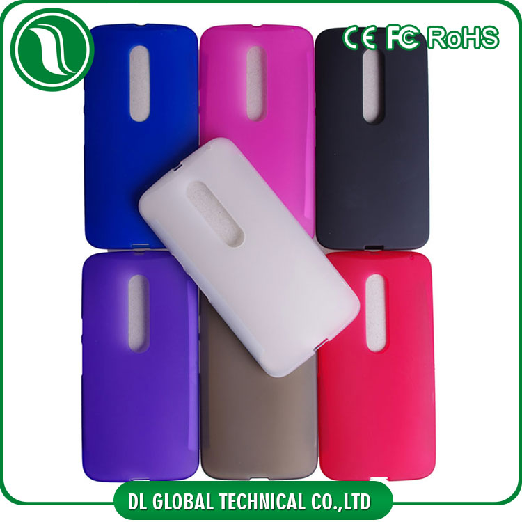 matte finished candy color tpu bumper case for moto x style
