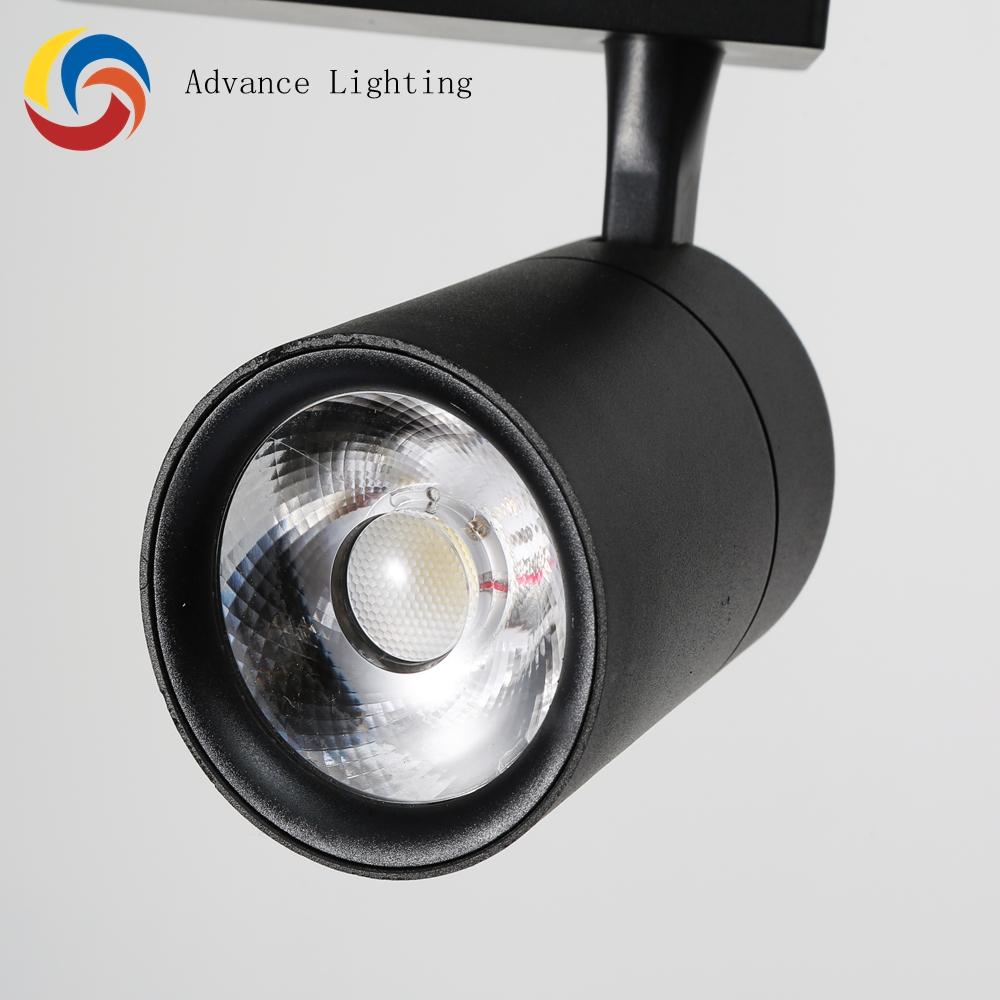 aluminum high lumen showroom display track lighting led 30w cob