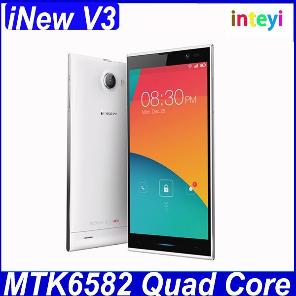 Original Inew V3 MTK6582 Quad Core Smartphone 5.0 inch HD Screen 13.0MP camera Android 4.2 phone Inew V3