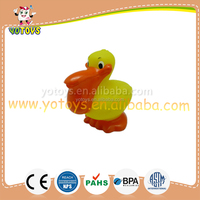Custom make non-toxic pvc plastic bath toy bird animal toys for kids