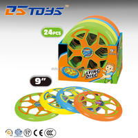 "2015 Newest Outdoor Toys 9""Plastic Frisbee For Kids Sport Toy 24pcs"