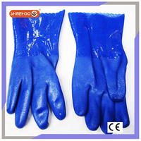 SHINEHOO Waterproof Fishing Sand Blashing PVC Gloves