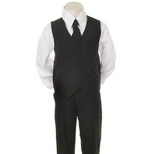 New product customize boys black pinstripe t <strong>r</strong> suit