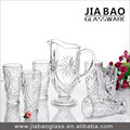 7pcs engraved glass water pitcher set with 6 tumblers (GB12046TY)