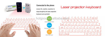 Langder Cool Bluetooth Laser Projection Virtual Keyboard for Smart phone
