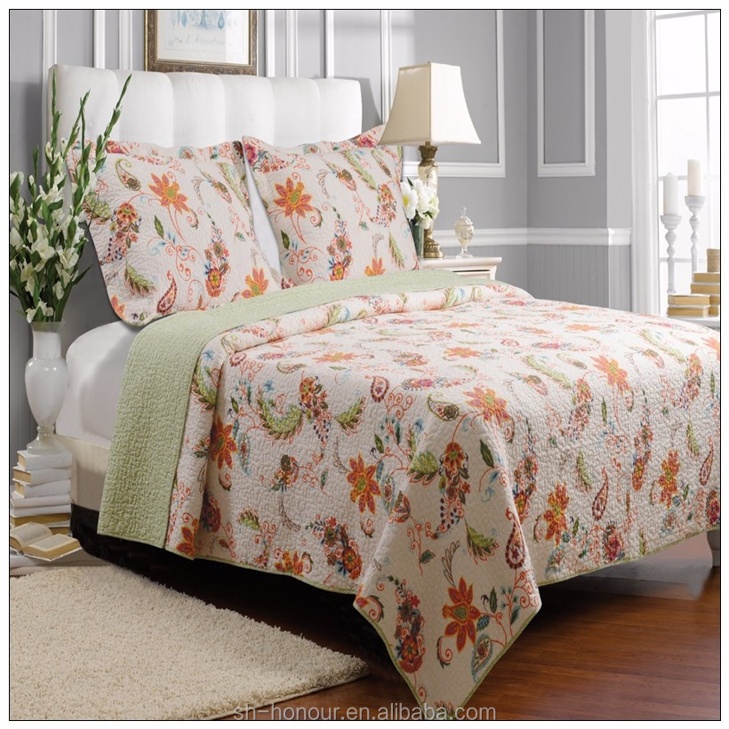 high quality custom deisgn printed bed throw