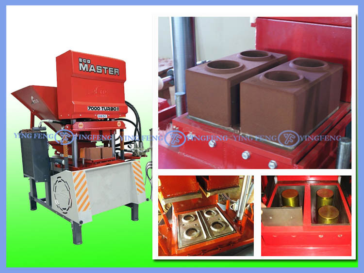 High Capacity! Yingfeng ECO7000 master hydraulic clay interocking brick making machine
