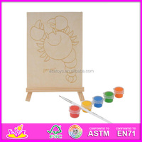 2016 new fashion baby wooden writing board,hot sale children wooden drawing board,popular kids drawing board W03A044