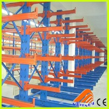 Free sample available steel cantilever rack, pipe rack system, heavy duty cantilevered shelves