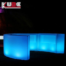 illuminated curved bar counter/LED light bar for nightclub