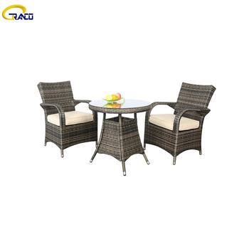 New style patio rattan wicker table and chair dining chairs