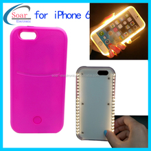 2016 latest products LED flashing mobile phone case lights up face case for iphone 6 flash light case cover