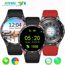 JIYOU KW88 3G Android 5.1 OS, Quad Core support 2.0MP Bluetooth SIM Card WiFi GPS Heart Rate Monitor Smart Watch