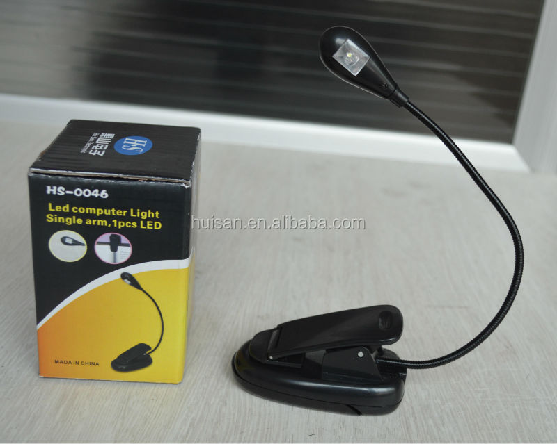 Super bright flexible clip lamp /led battery operated clip lamp