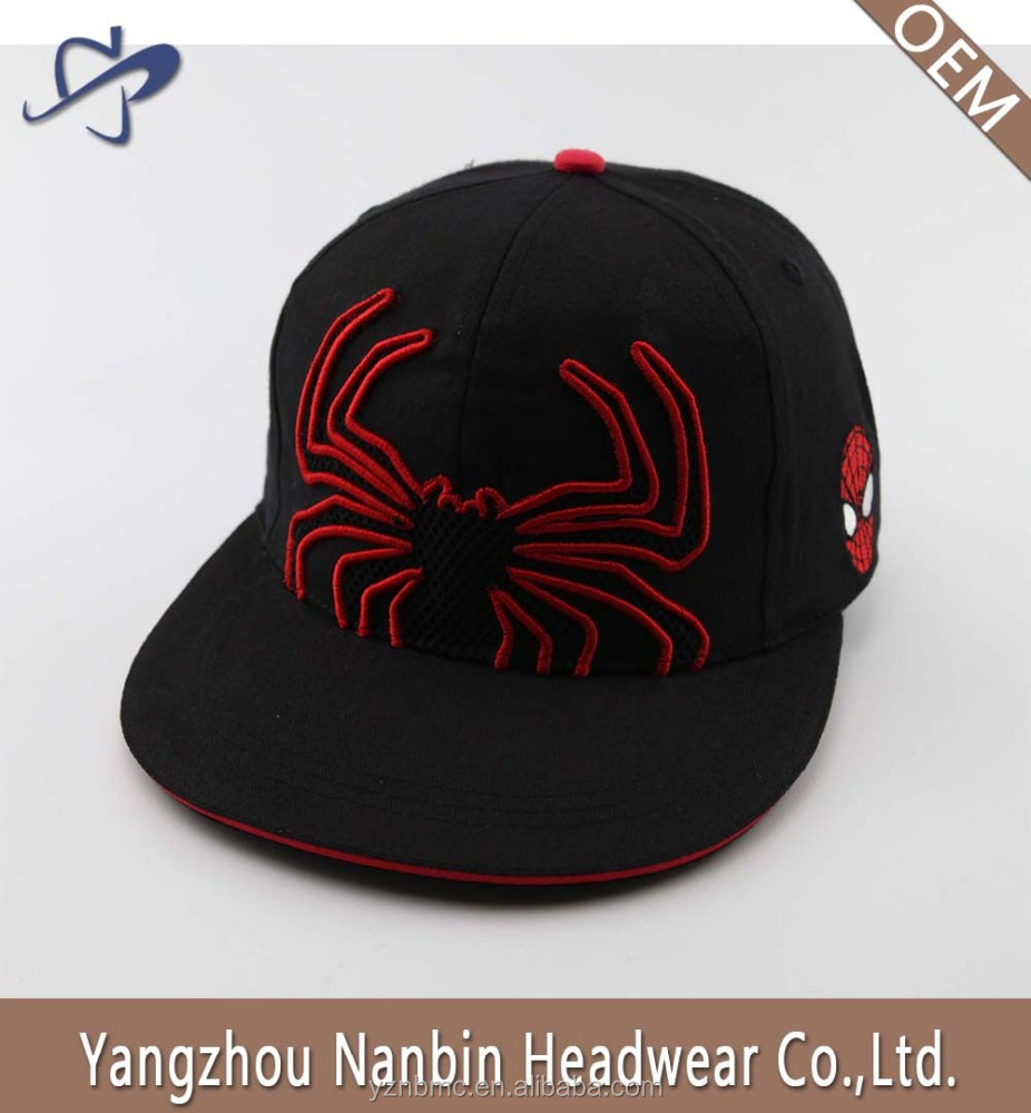 Hot sell high quality custom cotton 6 panel snapback hat with 3D applique embroidery and plastic closure