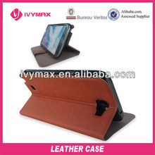 for samsung galaxy note2 leather case with botton and stand