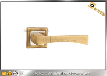 Zinc Alloy Door Handle With Mortise Locks And Cylinder Lock