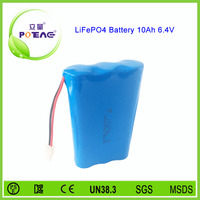 2s3p 6.4v 10000mah li-ion battery 26650 lifepo4