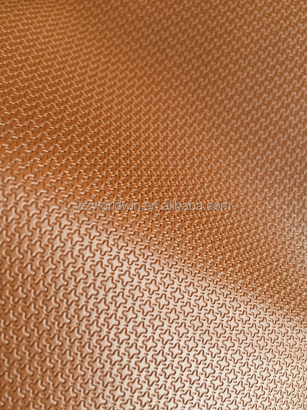 Embossed leather PU Star shape design leather