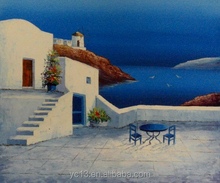Excellent modern seascape oil painting hotel artwork ct-317 greece landscape painting