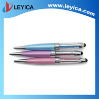 2016New Crystal Capacitive Touch Stylus Ball Pen Metal Twist Ball Pen Slim