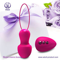 Silicone waterproof rechargeable vibrator wireless remote control vibrator egg sex toy for woman