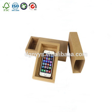 Elegant Design Custom Printed Mobile Cell Phone Case Kraft Paper Packaging Retail Box