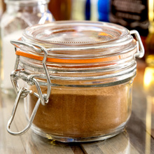 5oz 7oz 9oz 11.5oz glass storage jars/container with hinged clamp lid for jam/honey/candy/spice