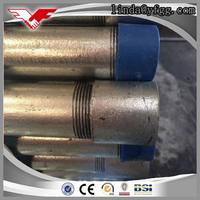 BS 1387 hot dipped galvanized conduit pipe thread with coupling