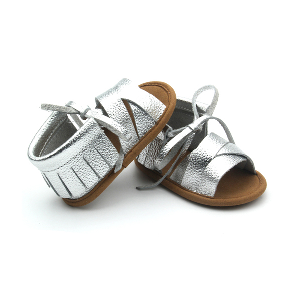 2017 new design flat jelly sandals summer kids leather girls sandals