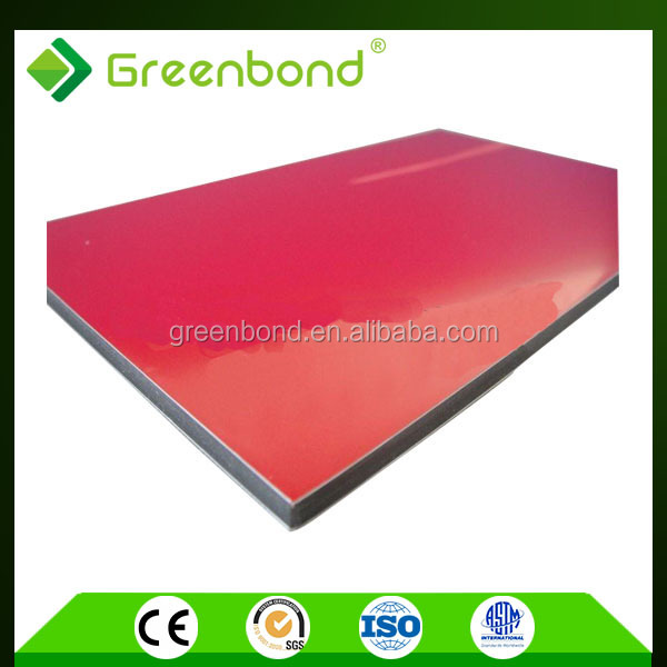 Greenbond acp aluminium composite panel with different size of top quality