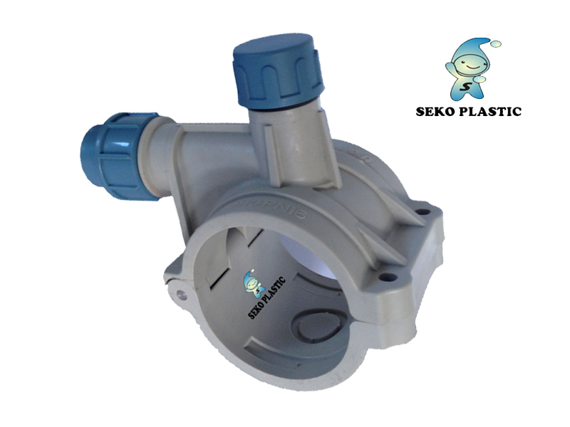 Clamp saddle hdpe pp compression fittings