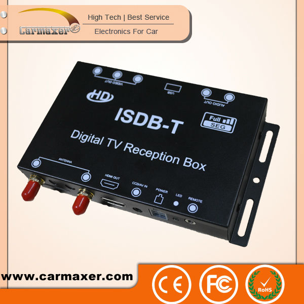 Car ISDB-T hi-tech HD set top box digital tv cable receiver for South America