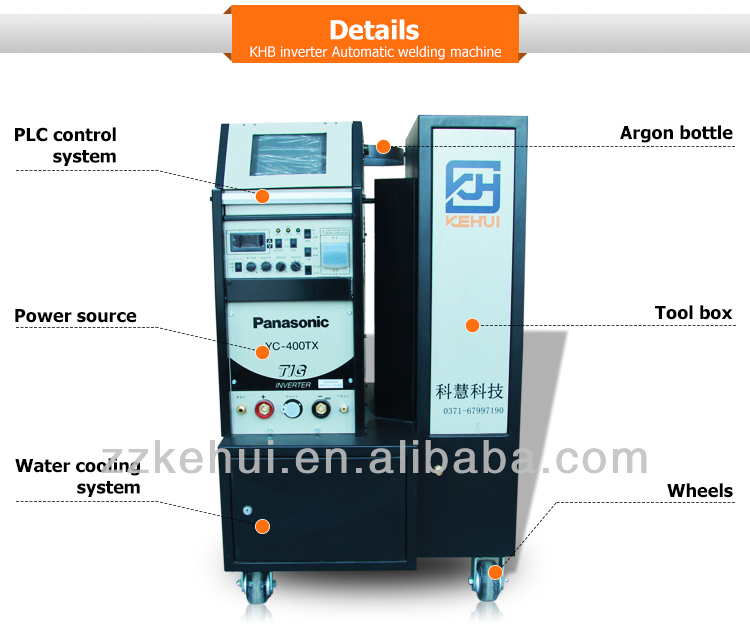 Tube to tube plate Automatic orbital welding machine with TIG for boiler and heat exchanger etc