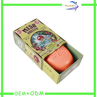handmade small single one recycle paper soap box