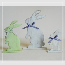 Stand easter rabbit decor for church decoration