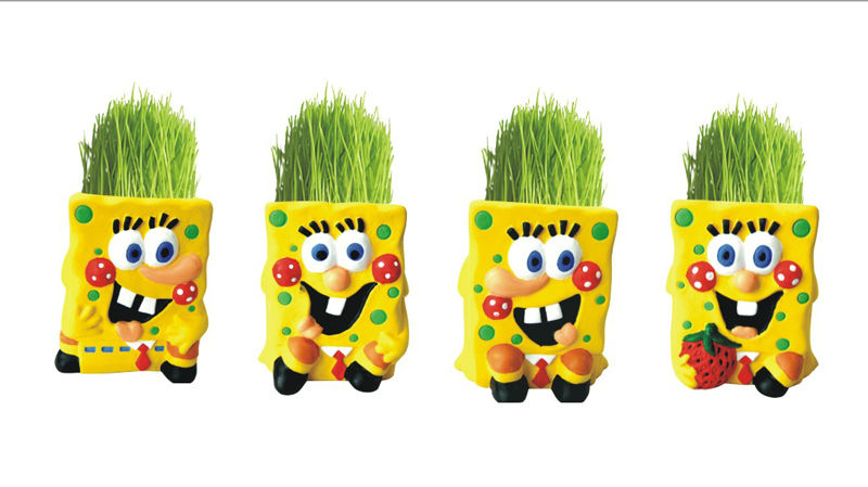 newest design customized grass head doll ,creative gift