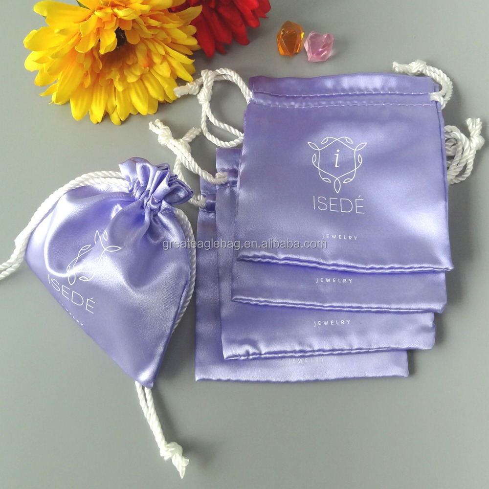 satin gift bag, high quality Custom satin jewellry pouch, gift pouch