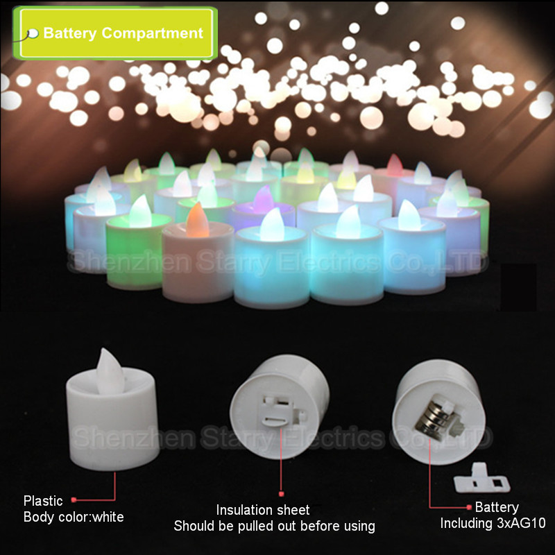 hot selling multicolor battery operated plastic led votive